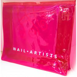 Pink plastic kit bag